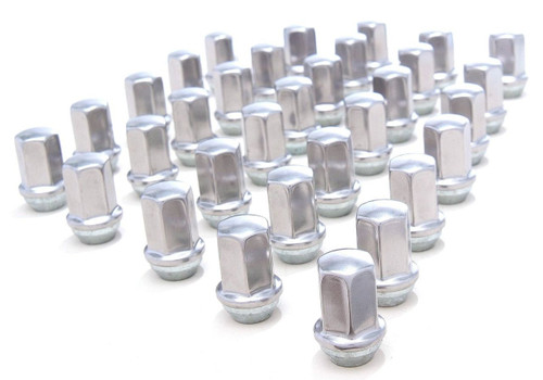 Set of 32 NEW Polished Stainless 14x1.5 Lug Nuts for GM 2500 3500 Trucks
