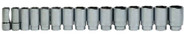 "19 - 60MM Williams 3/4"" Dr Deep Socket 6 Pt 15 Pcs & Rail Clip - 33932"