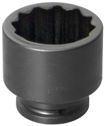 "1 9/16"" Williams 1 1/2"" Drive Standard Impact Socket - 12 Pt"