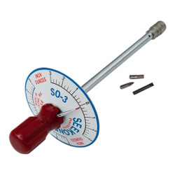 Seekonk 1/4'' Dr 0-3 Inch Ounce Vertical Torque Gauge Screwdriver - S0-3