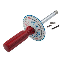 Seekonk 1/4'' Dr 0-96 Inch Ounce Vertical Torque Gauge Screwdriver - S0-96