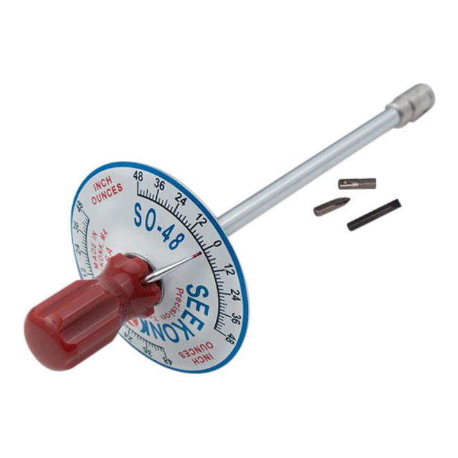 Seekonk 1/4'' Dr 0-48 Inch Ounce Vertical Torque Gauge Screwdriver - S0-48