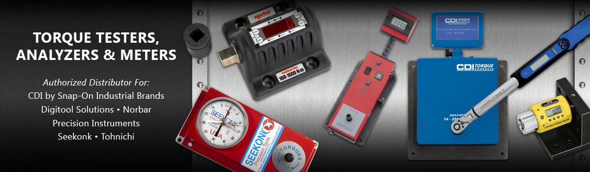 Torque Testers Analyzers, Meters, CDI Williams, Norbar Digitool, Seekonk