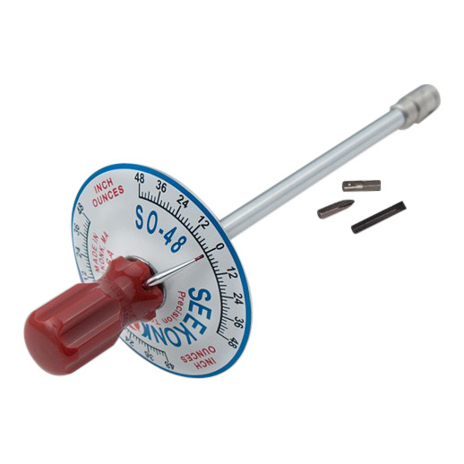 Seekonk 1/4'' Dr 0-48 Inch Ounce Vertical Torque Gauge Screwdriver 0-48