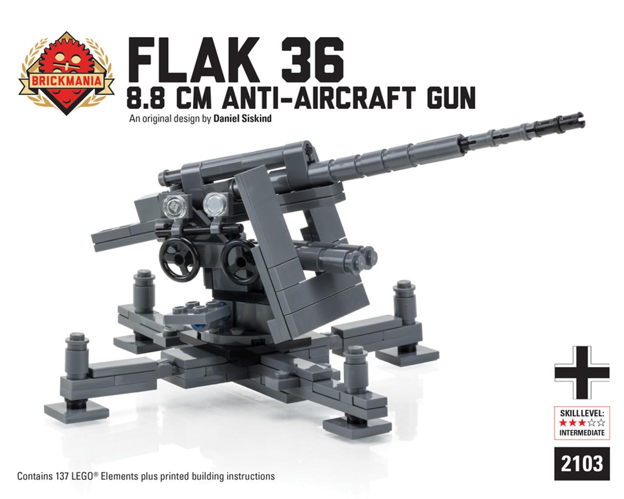 Flak 36 88 Cm Anti Aircraft Gun Brickmania Toys