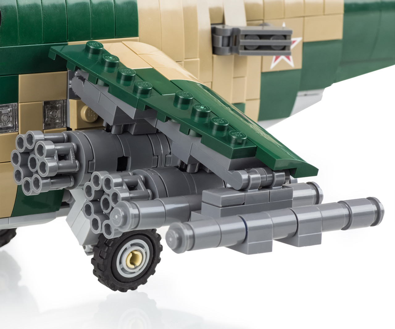 Mi 24 Hind Attack Helicopter Brickmania Toys
