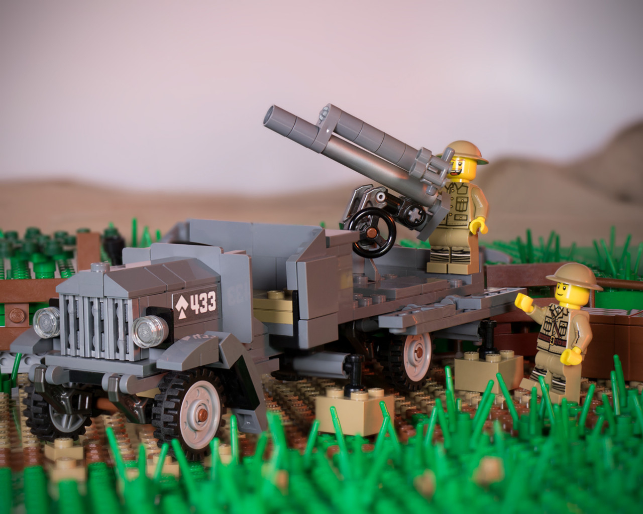 Type J Lorry - With QF 13-Pounder AA Cannon