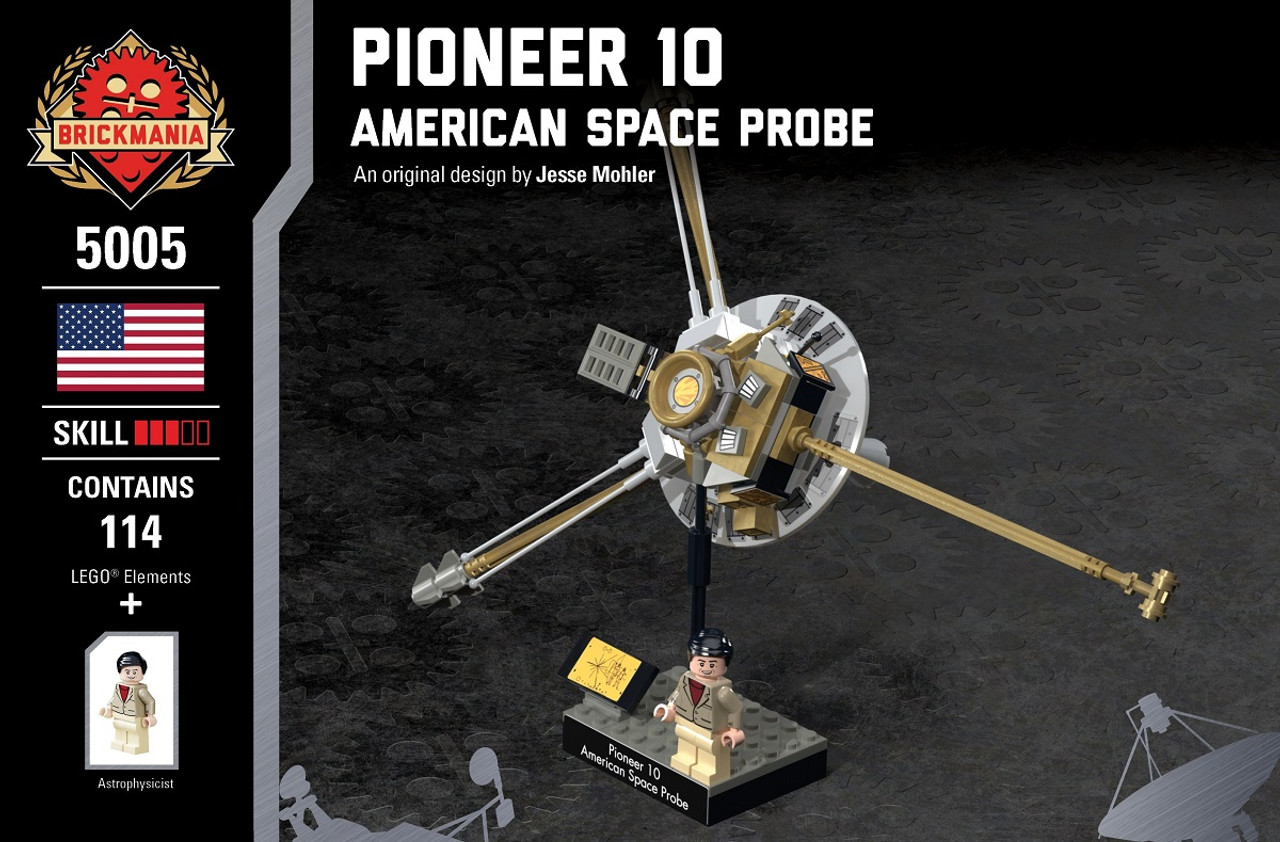 Us First Space Probe : Pioneer american space probe brickmania toys