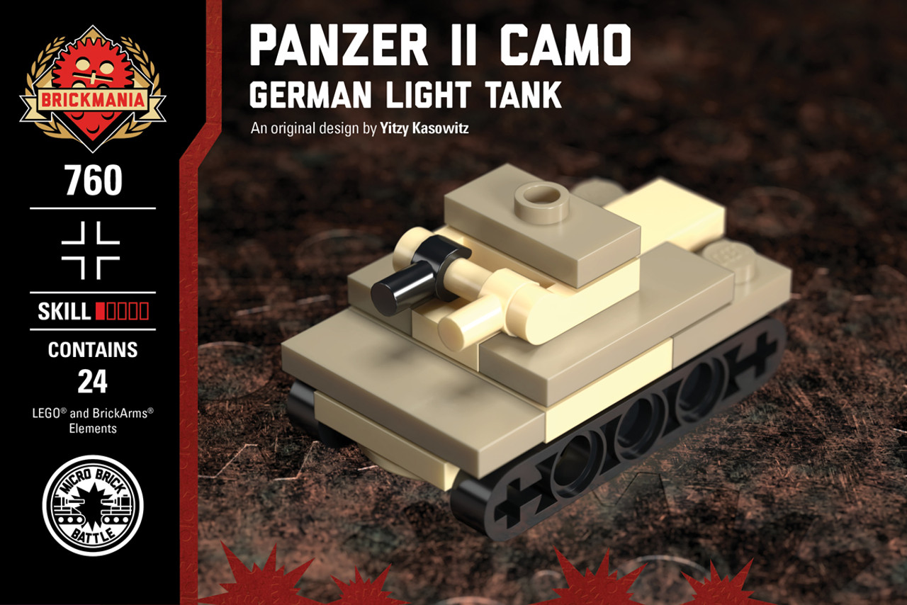 Micro Brick Battle - Panzer II Camo
