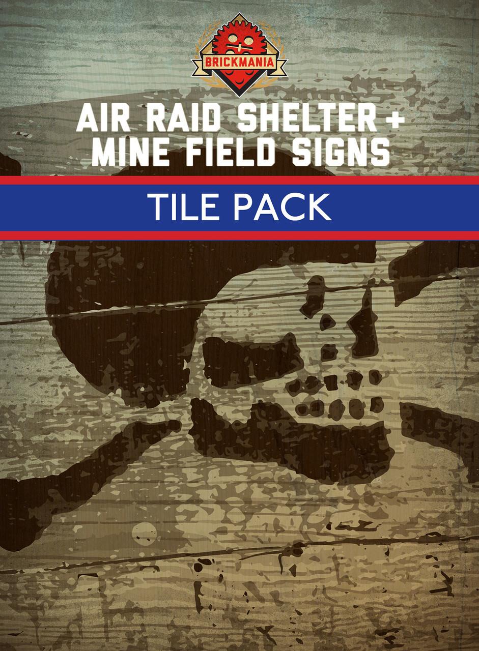 Air Raid Shelter & Mine Field Sign Tiles