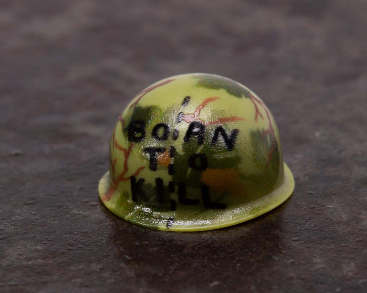 Born to Kill Vietnam Helmet with Mitchell Pattern