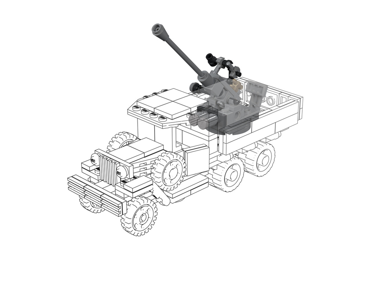 72-K 25mm Gun - Pack for Gaz AAA