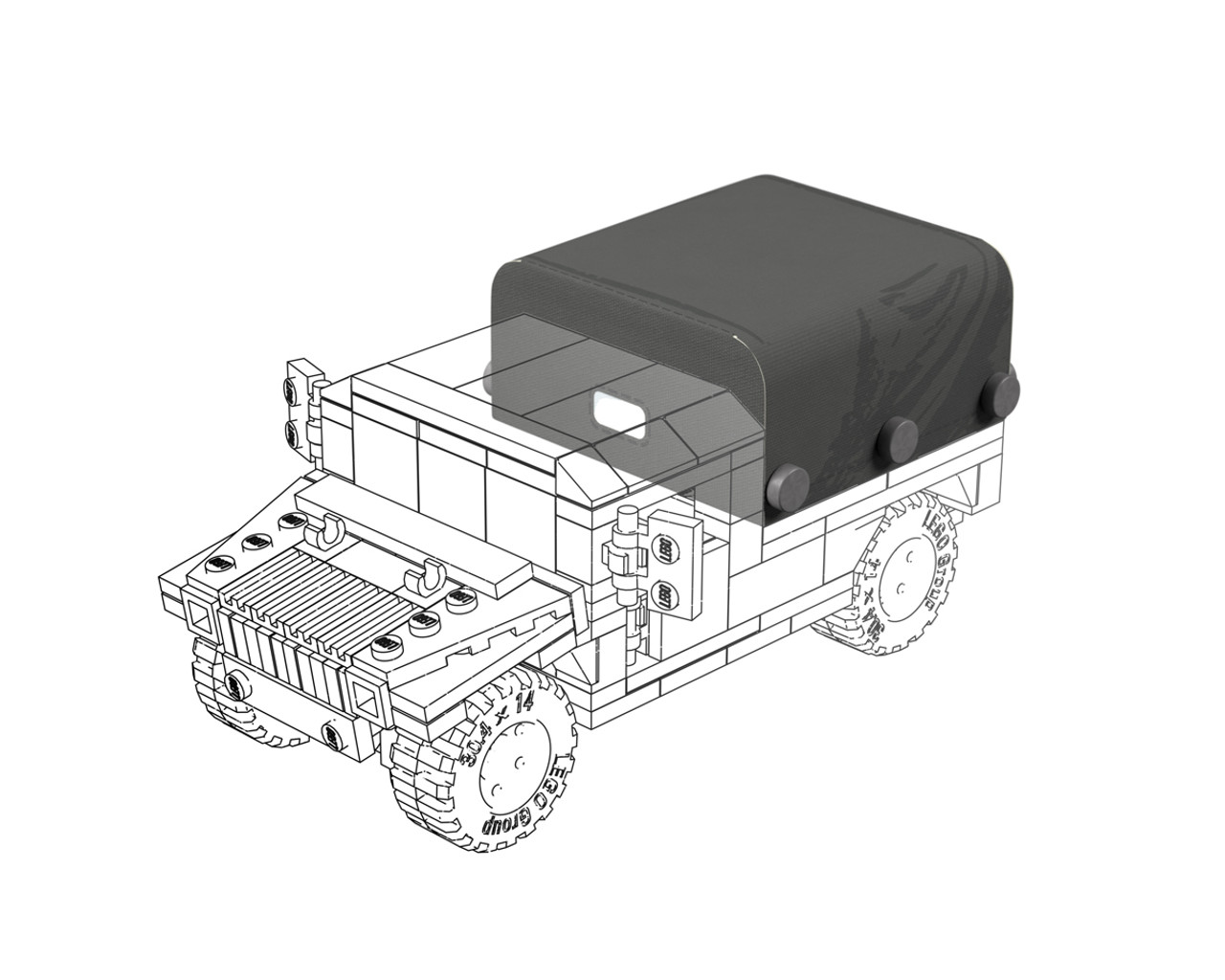 M998 HMMWV - Cargo & Troop Carrier Canvas Add-On Pack
