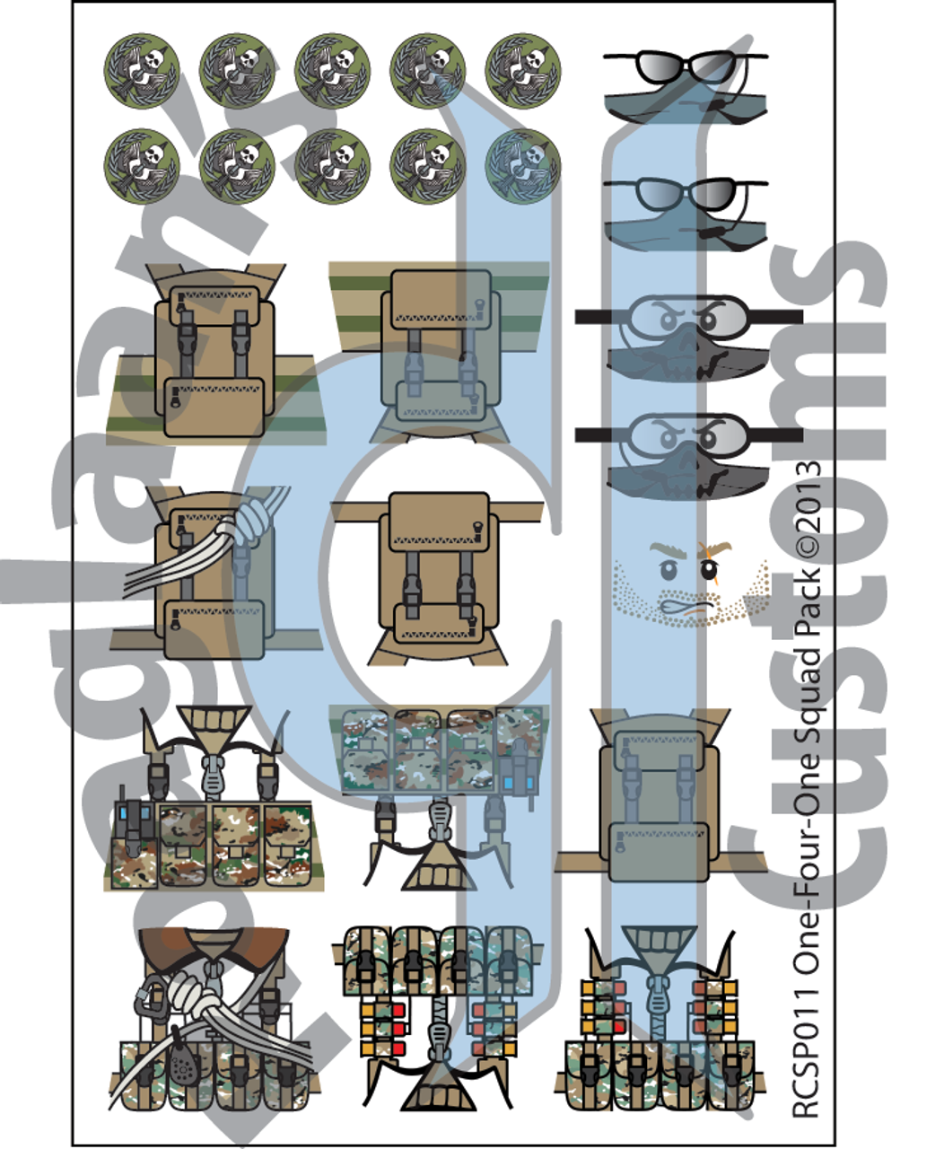 Modern TF One-Four-One - Water-Slide Decals