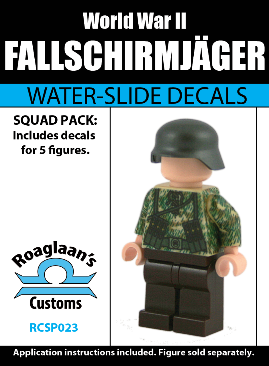 World War II German Fallschirmjäger Squad Pack - Water-Slide Decals