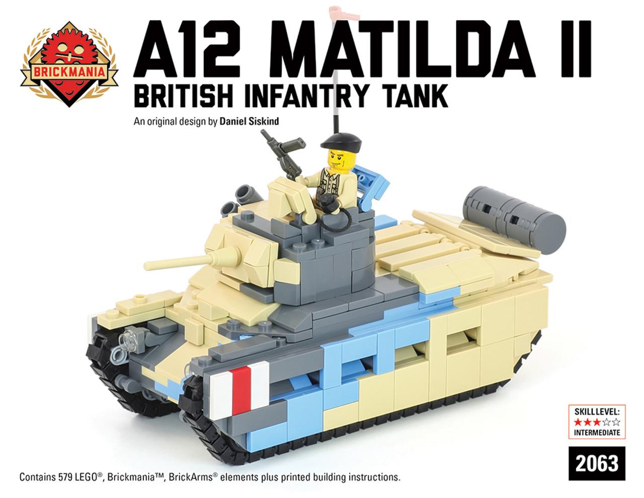 A12 Matilda Ii British Infantry Tank Brickmania Toys