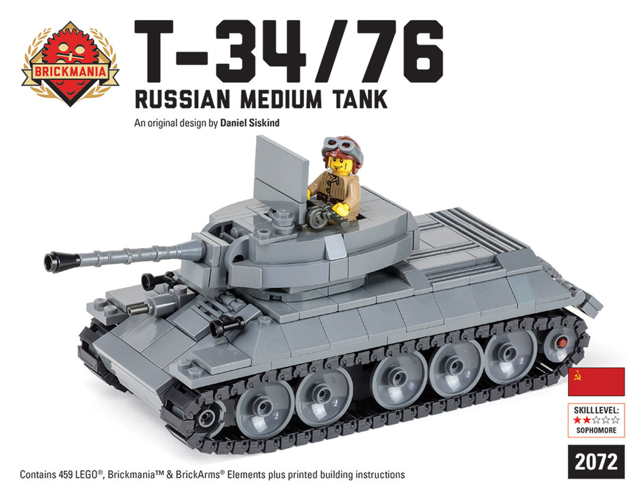 T 3476 Russian Medium Tank Brickmania Toys