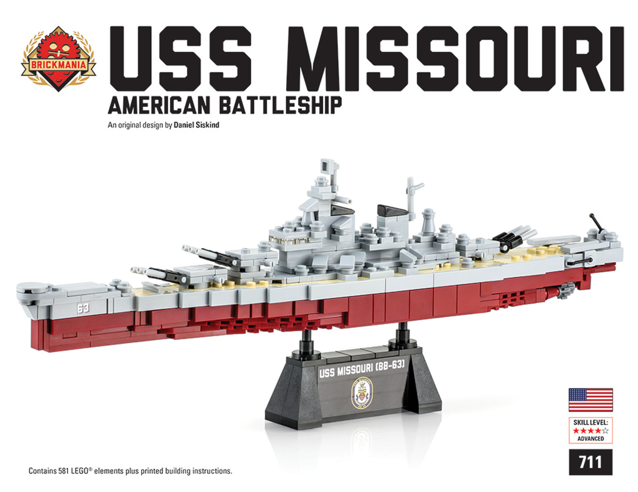 Uss Missouri Brickmania Toys