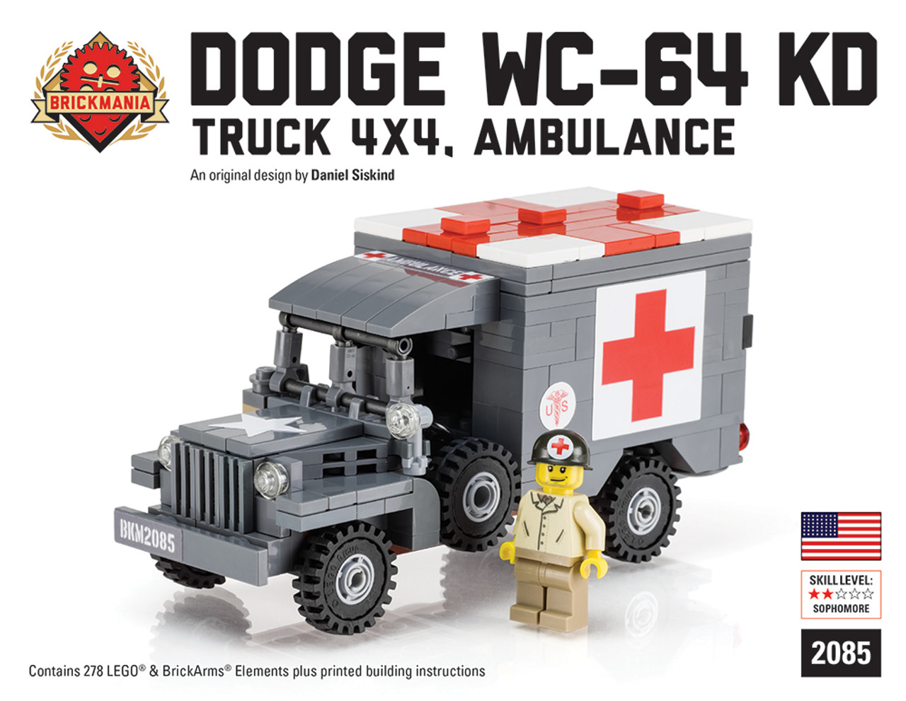 Dodge Wc 64 Kd Truck 4x4 Ambulance Brickmania Toys