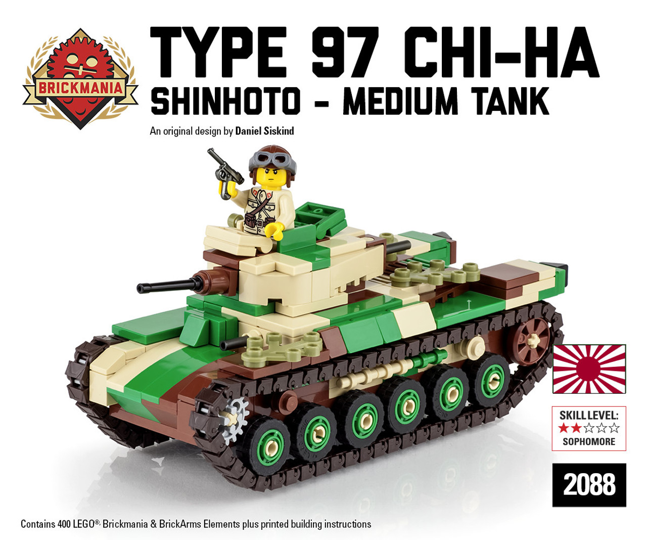 Type 97 Shinhoto Chi Ha Japanese Medium Tank Brickmania Toys