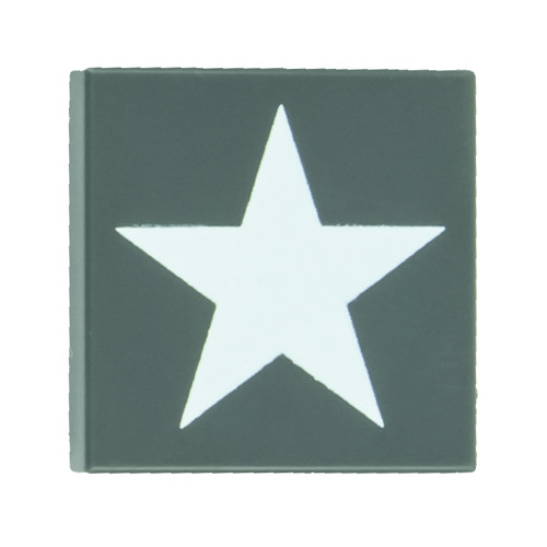 2x2 Allied Star Tile - Dark Gray