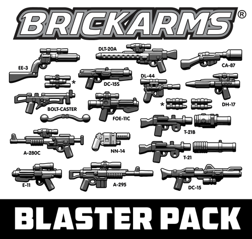 BrickArms Blaster Weapons Pack