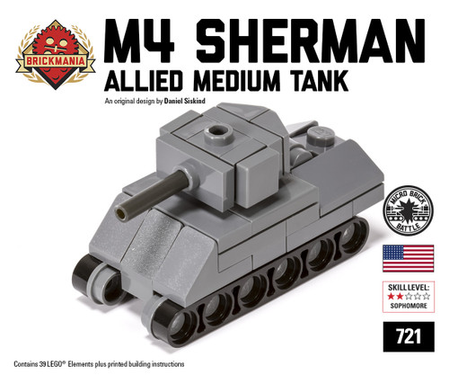 lego sherman tank instructions