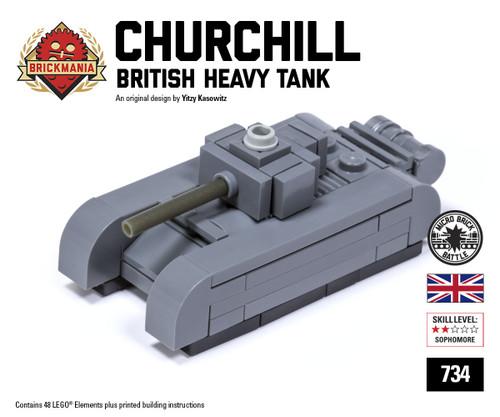 Micro Brick Battle - Churchill Tank