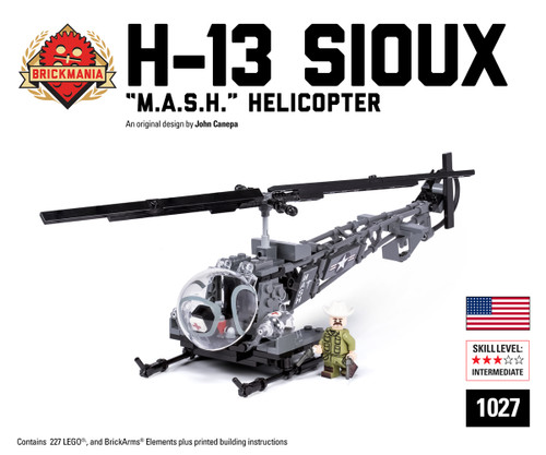 """H-13 Sioux """"M.A.S.H."""" Helicopter - Brickmania Toys"""