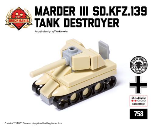 Micro Brick Battle - Marder III (Sd.Kfz.139) - Desert