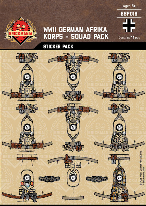 WWII German Afrika Korps - Squad Pack - Stickers