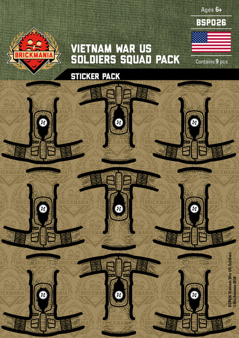 Vietnam War US Soldiers - Squad Pack - Stickers