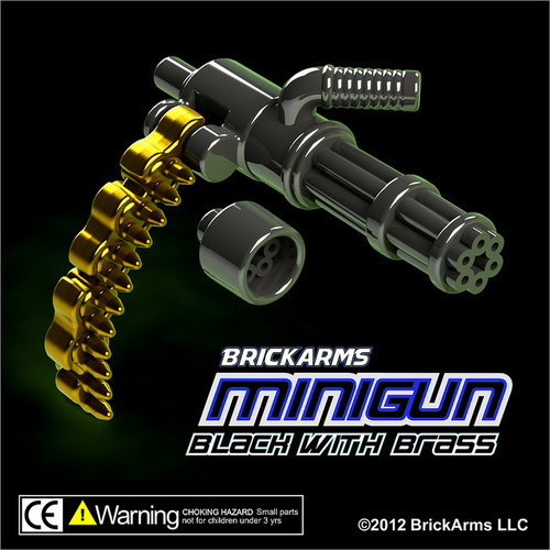 BrickArms Minigun with Bullet Chain - Black