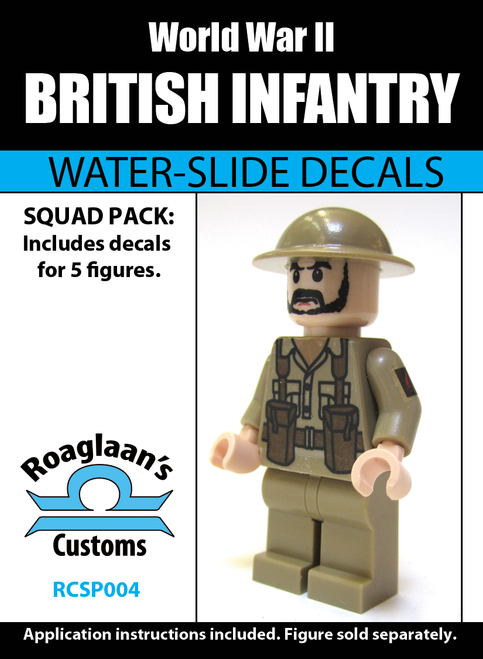 World War II British Infantry Squad Pack - Water-Slide Decals