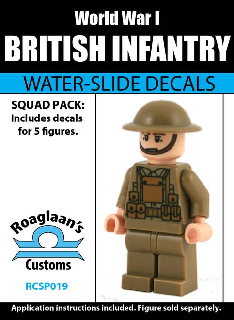 World War I British Infantry Squad Pack - Water-Slide Decals