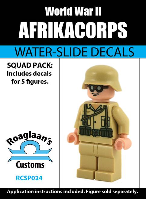 World War II German Afrikacorps Squad Pack - Water-Slide Decals