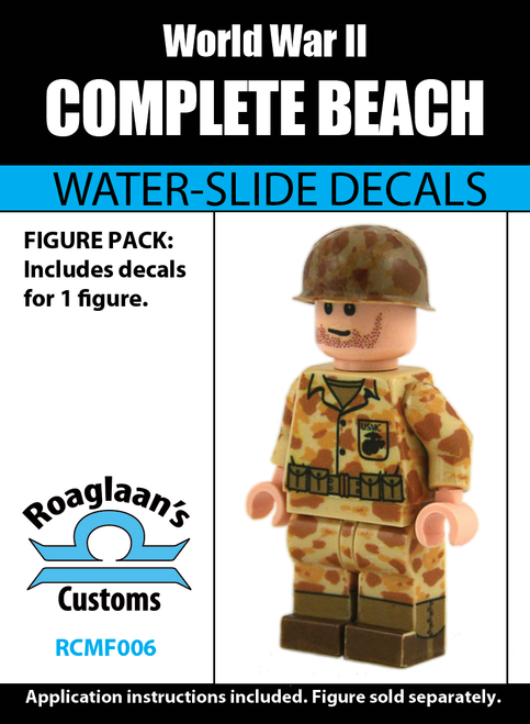 USMC Beach Cammo Complete Minifig Set - Water-Slide Decals