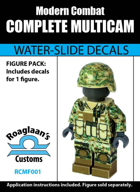 Multicam Complete Minifig Set - Water-Slide Decals