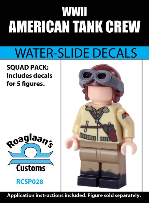 World War II American Tank Crew - Water-Slide Decals