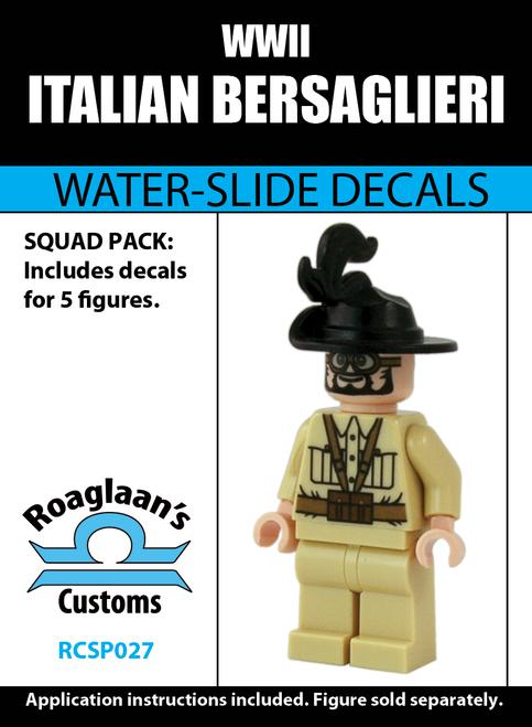 World War II Italian Bersaglieri - Water-Slide Decals