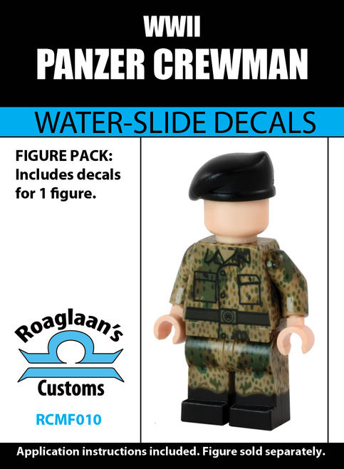 World War II Panzer Crewman Complete Minifig Set - Water-Slide Decals