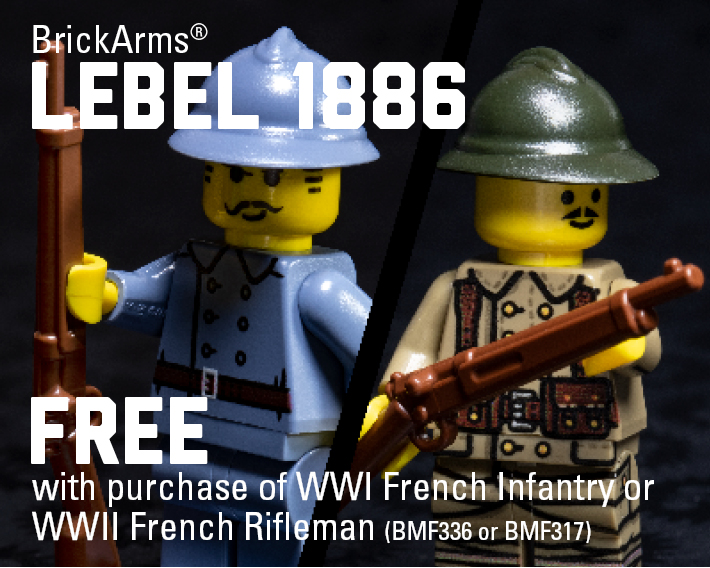FREE Lebel 1886 When You Buy A WWI French Infantry or WWII French Rifleman Minifigure