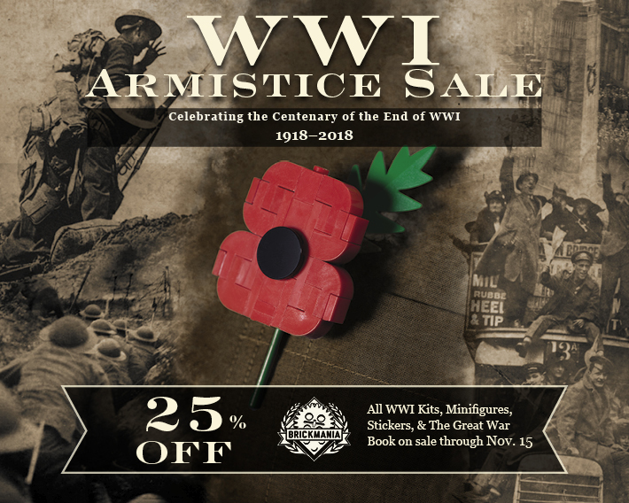 Save 25% On All WWI Kits, Minifigs, Stickers and The Great War Book