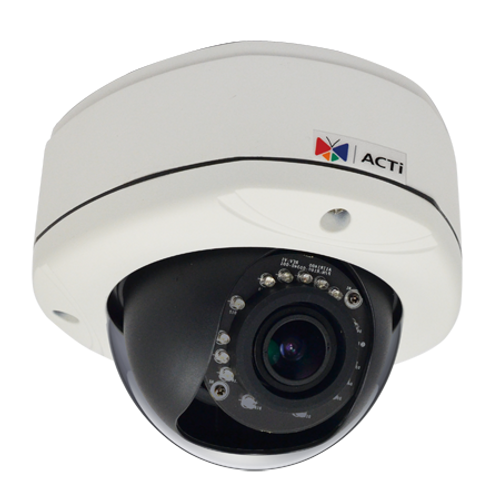 ACTi E86A 3MP IR WDR Vandal Outdoor Dome Network Camera