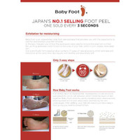 Baby Foot Exfoliation Foot Peel how to use