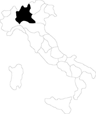 Lombardia region map