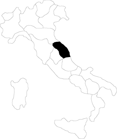Marche region map
