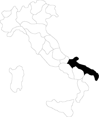 Puglia region map