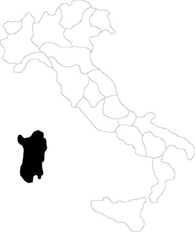Sardegna region map