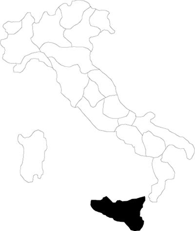 Sicilia region map